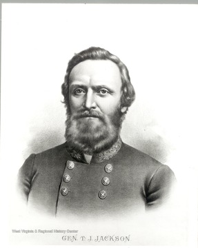 Portrait of General Thomas J. 'Stonewall' Jackson.