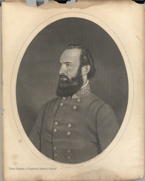 Portrait of Stonewall Jackson engraved by A.B. Walter from a photograph by Matthew Brady.