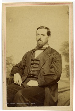 Portrait of George R. Boush of  Old Point Comfort, Va., a member of the Restored Government of Virginia's State Constitutional Convention held in Alexandria in 1864.