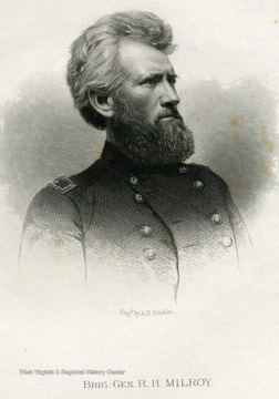 Engraving of Brigadier General R.H. Milroy.