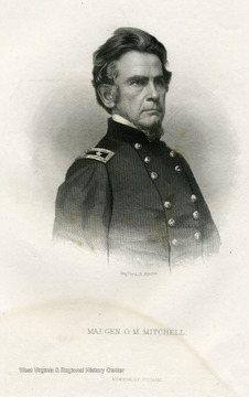 Engraved portrait of Major General O.M. Mitchell.