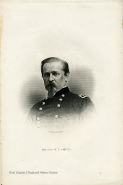 Engraved portrait of Major General W.F. Smith.