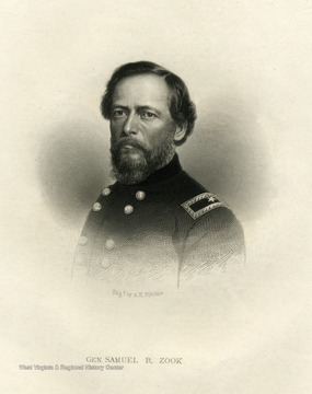 An engraving of General Samuel R. Zook by A.H. Ritchie.