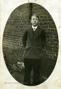 Portrait of Henri Montelecque, the young boy who saw the fall of Lt. Louis Bennett on August 24, 1918. Accompanied letter from Marie-Louis Plancy to Mrs. Louis Bennett, 22 July 1919 in the Bennett Collection Box 3, Folder 3.