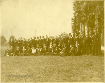 Group portrait of the the Southern Extension Workers - Winter 1919-1920(?), in Gulf Port, Mississippi.