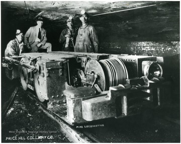 A mine locomotive of the Price Hill Colliery Co.