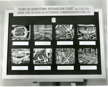 Display of the Georgetown Preparation Plant, near Cadiz, Ohio, Hanna Coal Division of Pittsburgh Consolidation Coal Co.