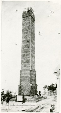 West Virginia Coal Column with diplay at the Jamestown Exposition in 1907.