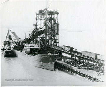 The James Ellwood Jones ship being loaded with coal.