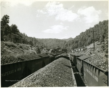 Chesapeake and Ohio Coal Cars after being filled.