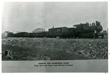 Freight and Passenger Train of the Piney River and Paint Creek Railroad Company.
