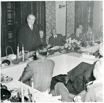 John Lewis at a dinner during a Consolidation Coal Co. Inspection Trip.