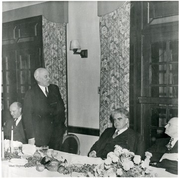 John L. Lewis is seated in this picture.