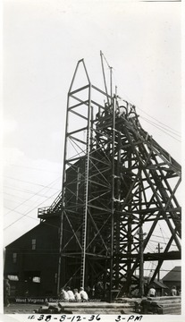 Headframe at 3 PM.
