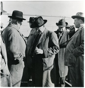 Group of coal officials during a Consolidation Coal Co. Inspection trip.
