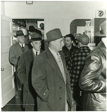 Coal officials during a Consolidation Coal Co. Inspection trip.