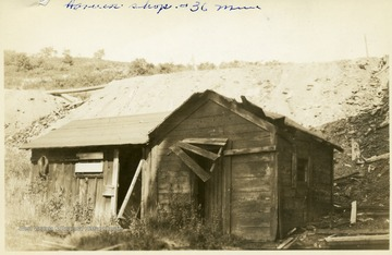 Dilapidated harness shop at the No. 36 Mine in Thomas, W. Va.