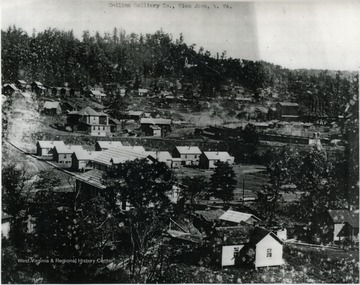 Collins' coal mine and connecting buildings in Fayette County.