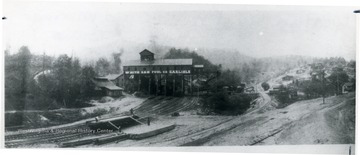 Distant view of White Oak Fuel Company tipple and town at Carlisle, W. Va.