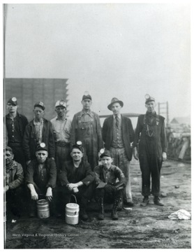 Group portrait of miners.