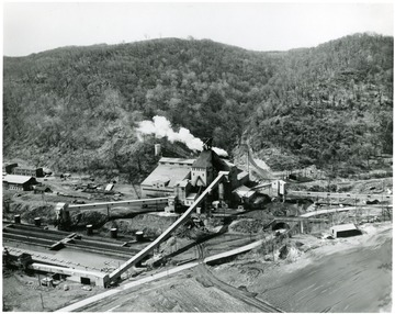 Scenic view of the Harmar mine facilities.