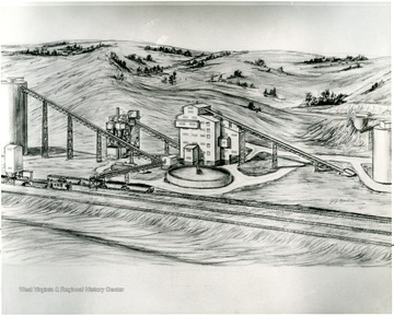 Drawing of a proposed coal facility.