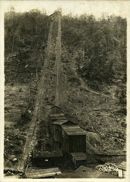 Tracks going up mountain at Besoco, W. Va.