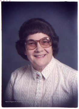A portrait of Rev. Violet L. Petso, Director of Scott's Run Settlement House, 1964-1978.