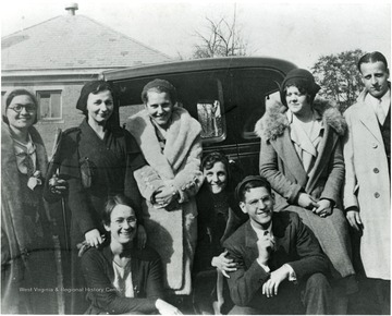 'Front Row: Mary Behner(Christopher) and Dave French, Second Row: Anna Santore(Delaney), Jeanine Watson, Mary Low Flesher(Frantz), Margaret French (Clink), Margaret Brooks(Wright), and Bates Butler.