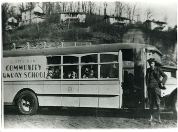 'The Mountaineer Mining Mission had a bus that went out and picked up the boys, girls, and other people that wanted to attend the Mission Sunday School, Church services and affairs. Pursglove, W. Va., Monongalia County; For more information on Mountaineer Mining Mission see A&M 2491 (S.C.); first called Mountaineer Mining Mission or later, Presbyterian Neighborhood Services, P. N. S.'