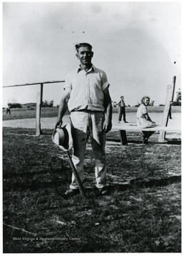Picture of Allen Hare at Scott's Run, W.Va.