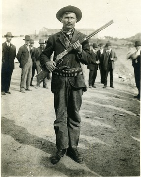 A Union man with with gun and ammunition.