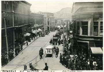 Funeral procession of the Ludlow victims.