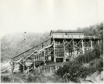 This mine was located on the West Fork River near Clarksburg. It was the first mine operated by Senator C. W. Watson.'