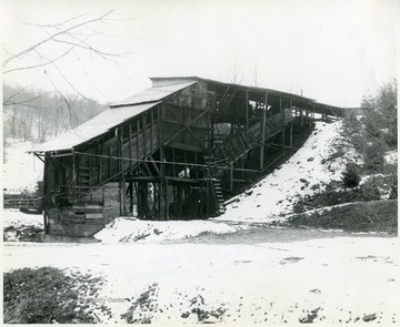 Snow covered Old Alice Mine in Maidsville.