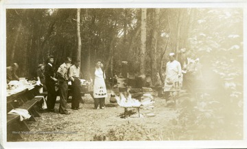 Group of Progressive Miners of America hold a cookout in Provo Canyon.