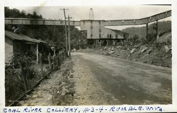 Coal River Colliery buildings at Rumble, W.Va.  Photograph from Joe Ozanic scrapbook.