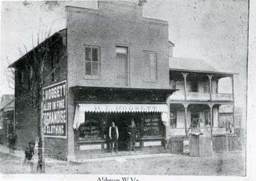 H.C. Hogsett store located near the North end of bridge in Alderson.