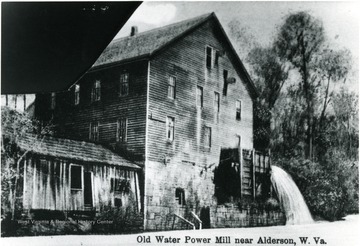 Old Water power mill located near Alderson.