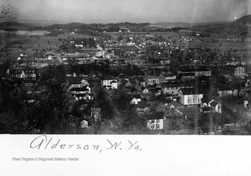 Birds eye view of town of Alderson, W. Va.
