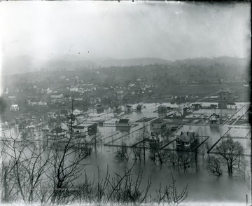 'Great Flood of 1917, covering North Alderson.'