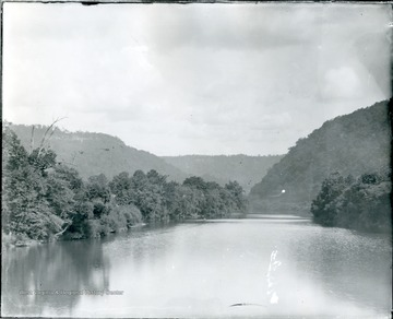 View of Greenbrier River from bridge at Alderson.