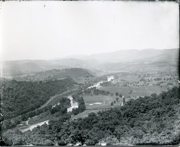 A birds eye view of Alderson, West Virginia. Taken from Indian View.