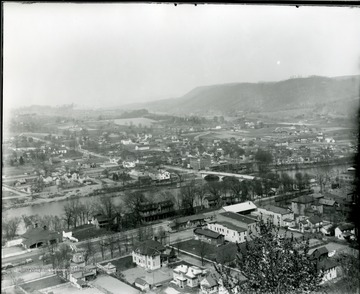 City of Alderson (North and South), W. Va.  Looking Northeast from Bivens Hill.