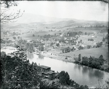 View of Alderson looking Northwest.  Bright's Mill, lower center.