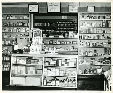 View of the interior of the Beckley Medical Arts Pharmacy in the Beckley Medical Arts Building in Beckley, West Virginia.