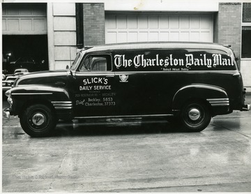 Slick's Daily Service truck in Beckley, West Virginia, delivering the Charleston Daily Mail.