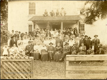 A group portrait of the Prince Family members who attended the last reunion at Beckley, West Virginia in 1910. See Beckley, USA by Harlow Warren, page 402 for identification.
