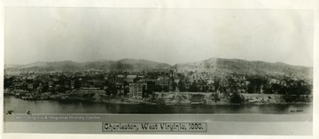 View of Charleston, West Virginia in 1890.