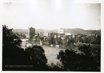 A picture postcard of Charleston, West Virginia and Kanawha Pines.